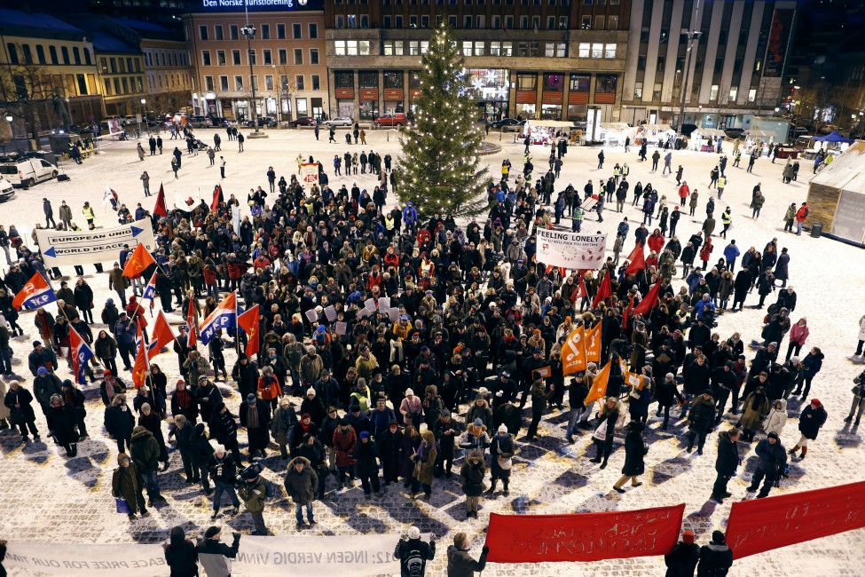 Norway Protest