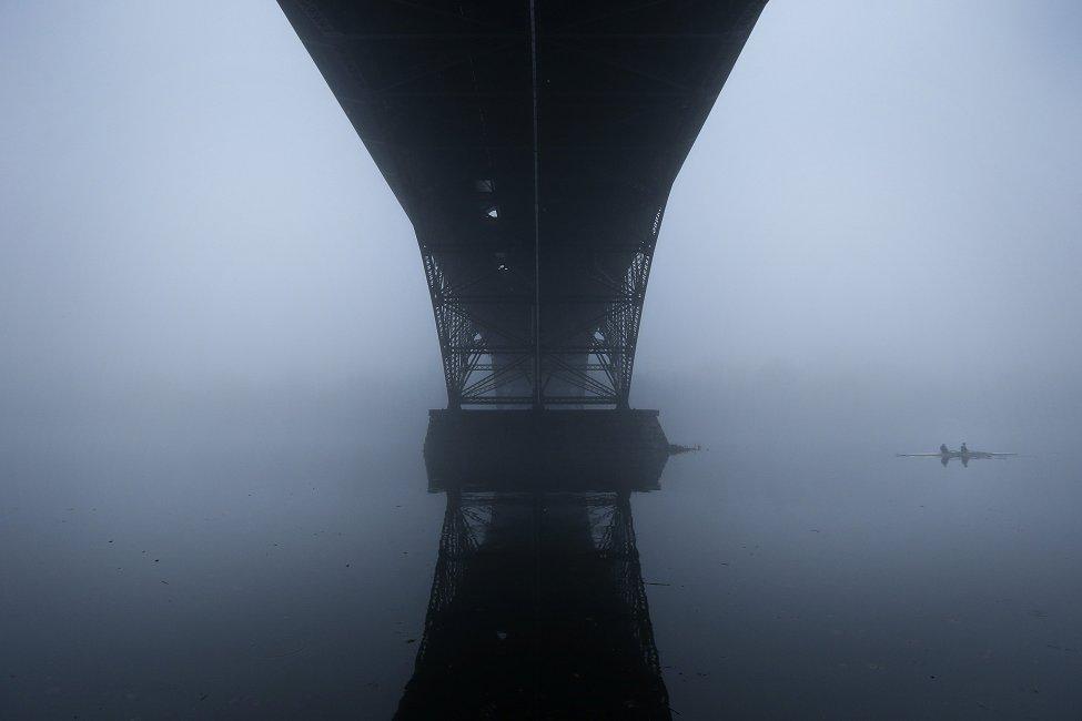 Rowers Fog Philadelphia