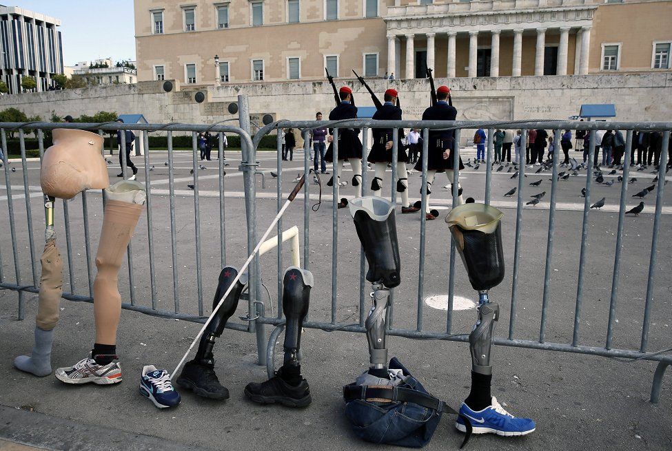 Greece Protest Disabilities