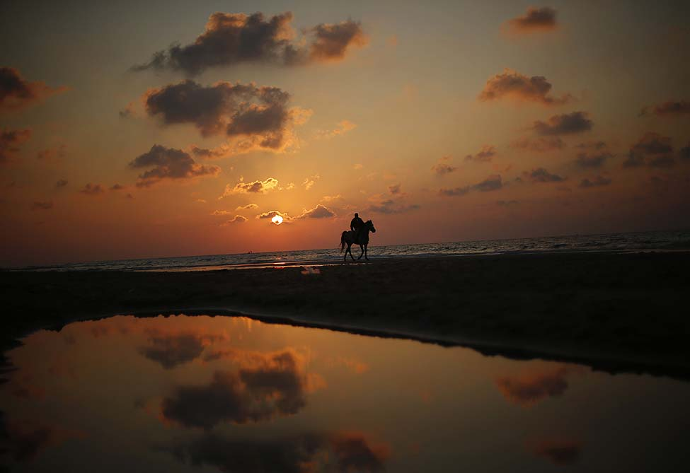 Gaza Beach Sunset