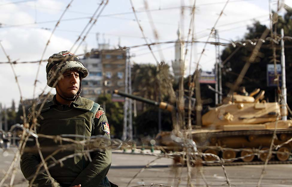 Cairo Protests Soldiers
