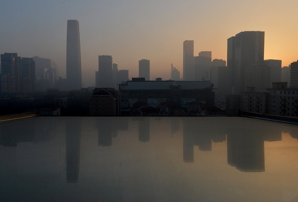 China Smog Skyline