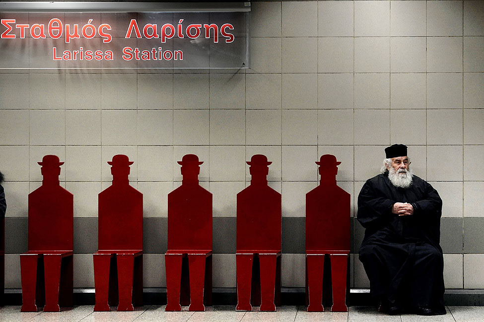 Greece Priest Subway