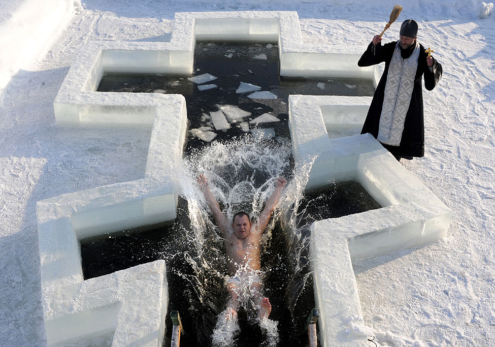 Belarus Ice Baptism