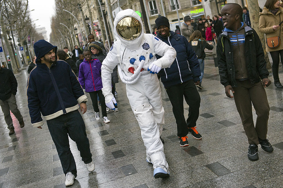 Paris Champs-Elysees Astronaut