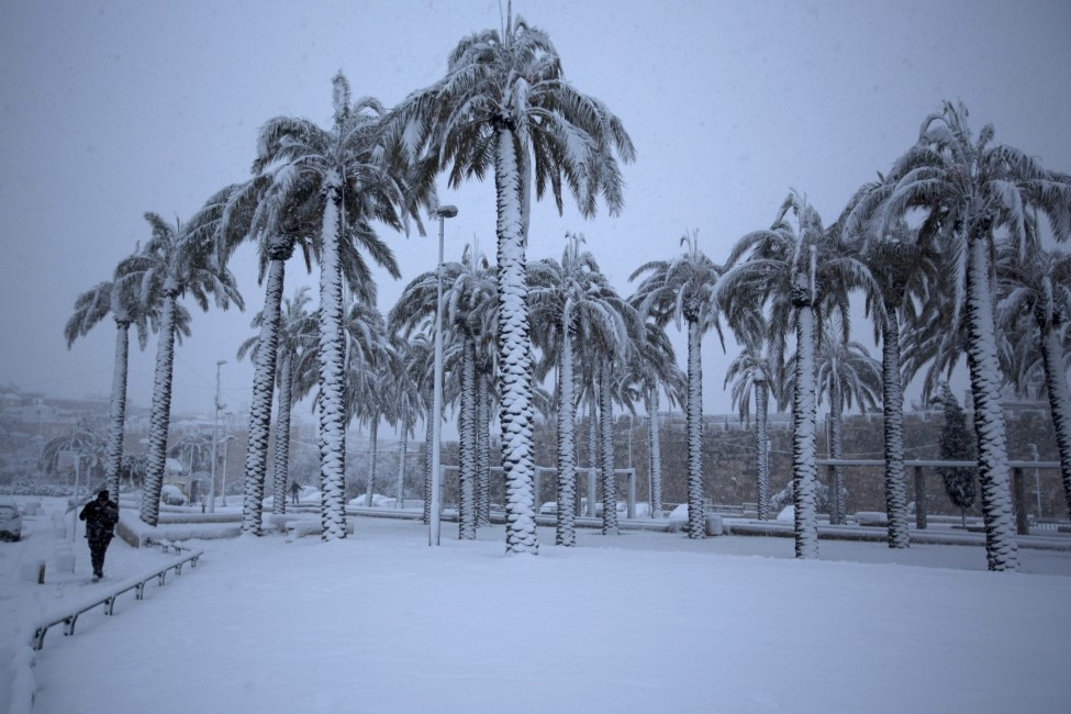 Israel Palestinians Snow