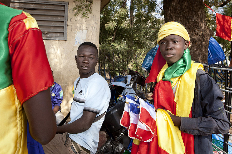 Mali French Flags