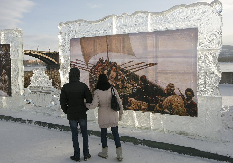 Russia Ice Art
