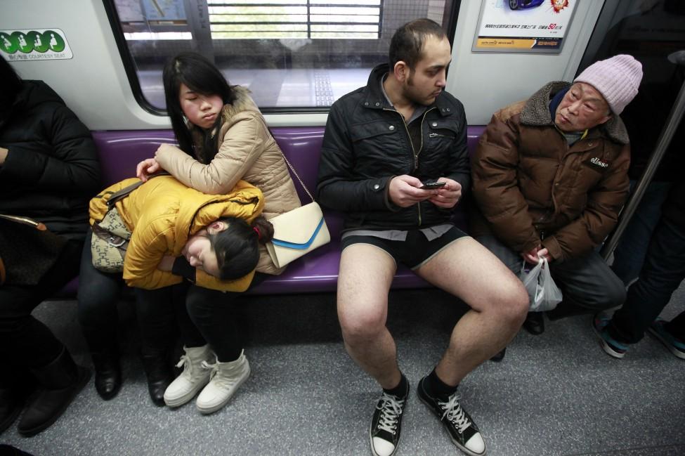 China No Pants Subway Ride