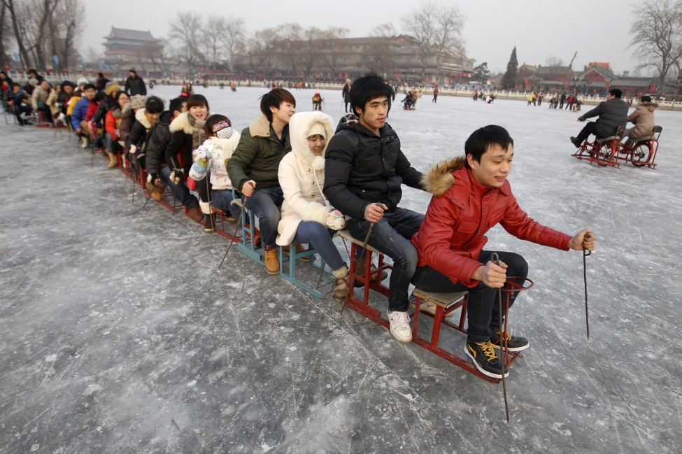 China Frozen Lake Skating