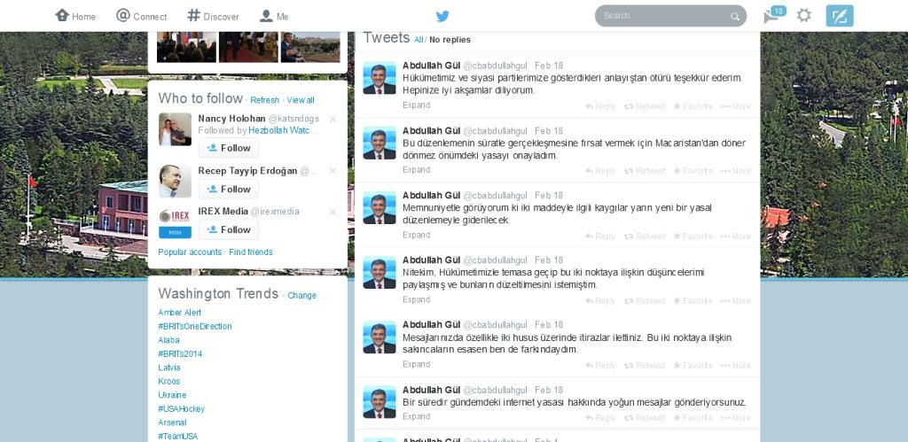 Abdullah Gül (cbabdullahgul) on Twitter 2014-02-19 16-31-00