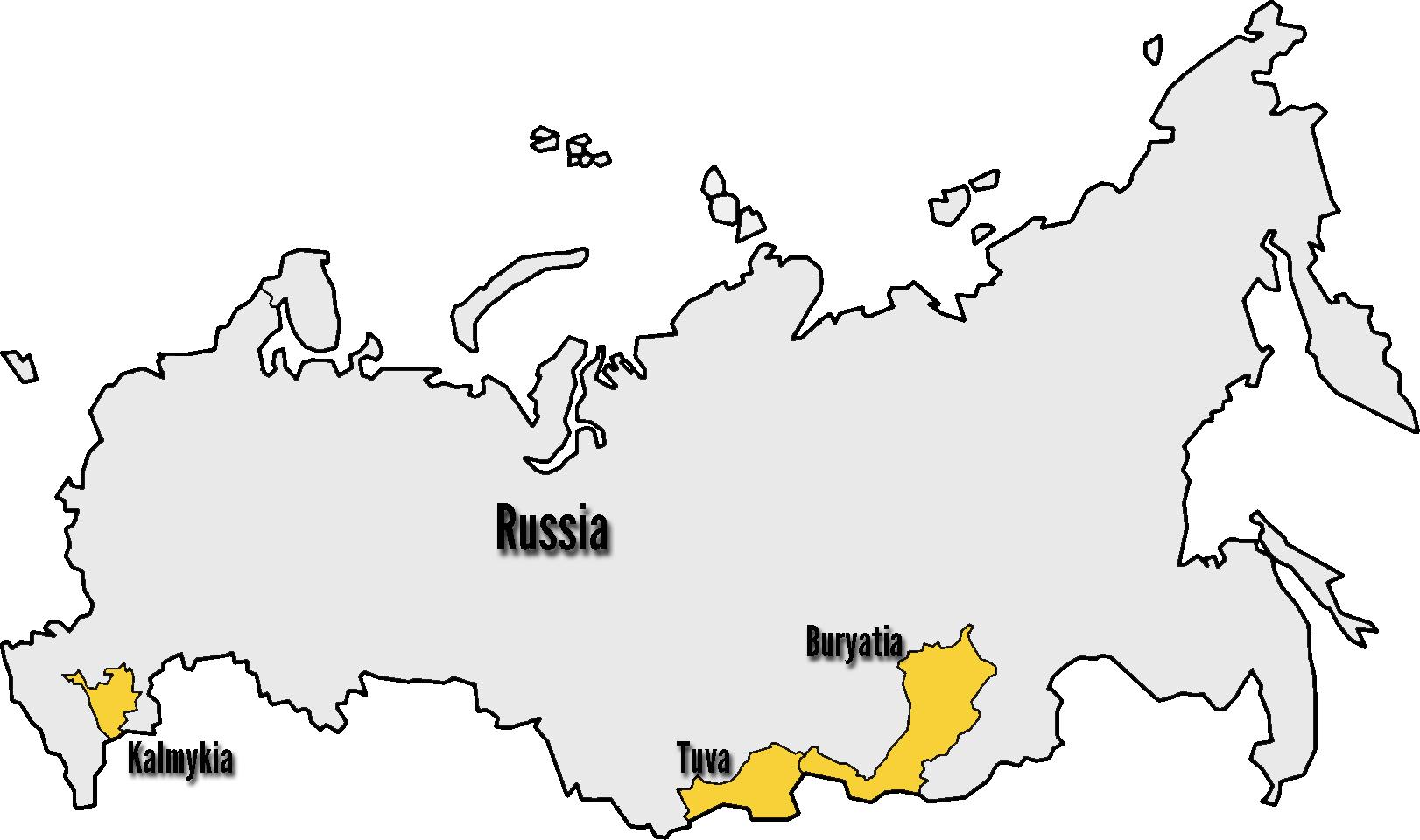Россия контурная карта раскраска