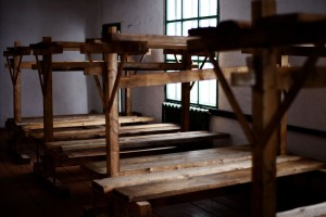 Bunks made from timber prisoners cut from the Siberian taiga forest. Radiators were added to barracks in 1950s when Perm-36 housed officials convicted of committing excesses under Stalin. VOA Photo: Yuli Weeks