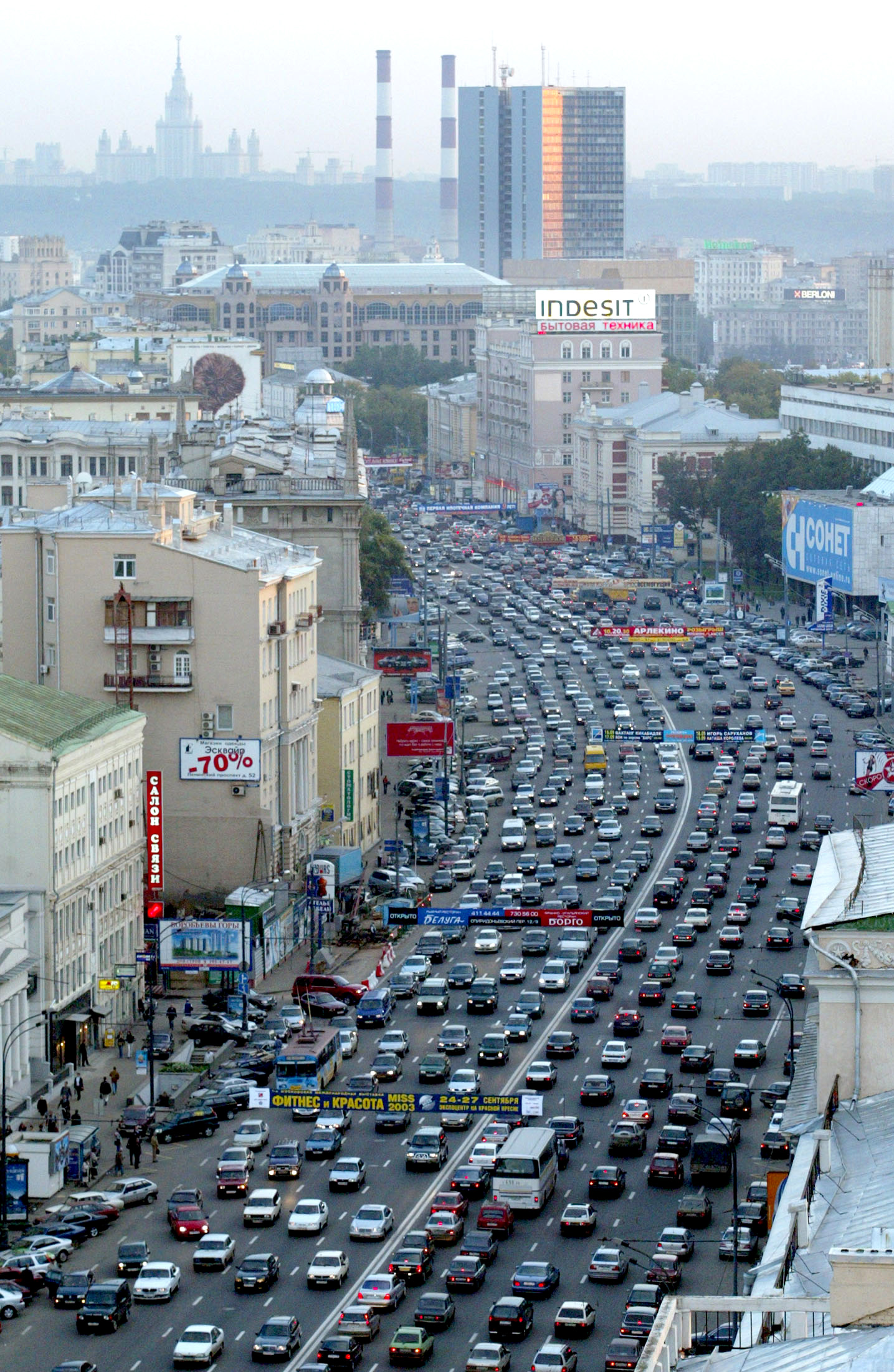 Traffic Crawls Through Moscow City 171 Russia Watch