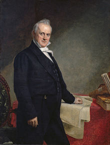 James Buchanan was the only future president of the United States to serve as Ambassador to Russia. Here, he stands for her presidential portrait by George Peter Alexander Healy in 1859 -- 26 years after sailing out of St. Petersburg. Photo: Smithsonian National Portrait Gallery.