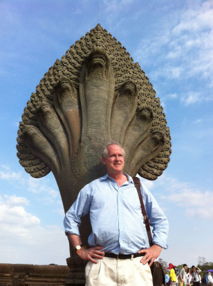 Jim Brooke at Angkor Wat in Cambodia.