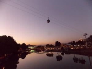 Вечерний Тбилиси. Берега Куры.