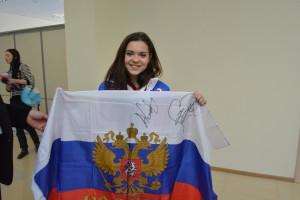 Олимпийская чемпионка по фигурному катанию Аделина Сотникова