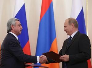 Владимир Путин и Серж Саркисян