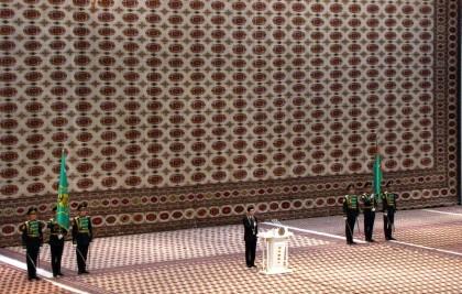 Инаугурация новоизбранного президента в Туркменистане (AFP)
