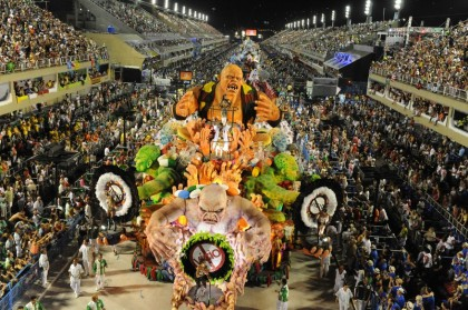 Вторая ночь карнавала в Рио-де-Жанейро (AFP)
