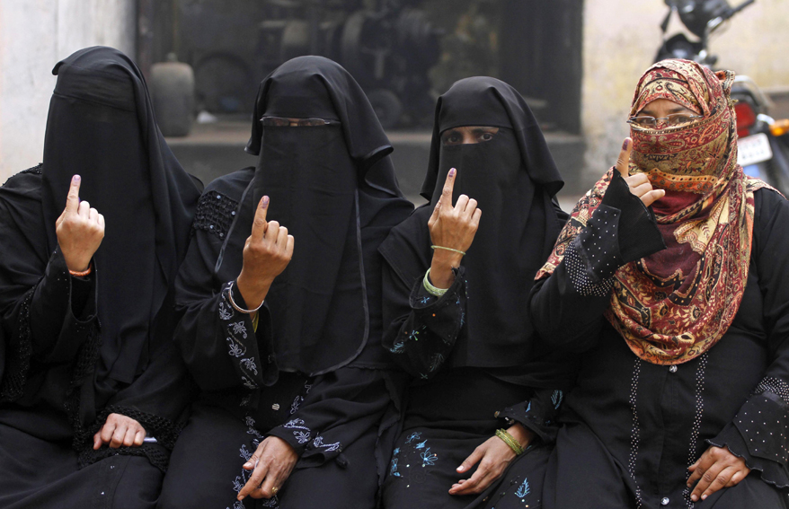 Избирательницы в Индии