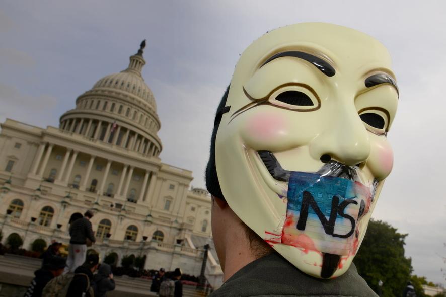 «Анонимус» у Капитолия. Протест. Ноябрь 2013