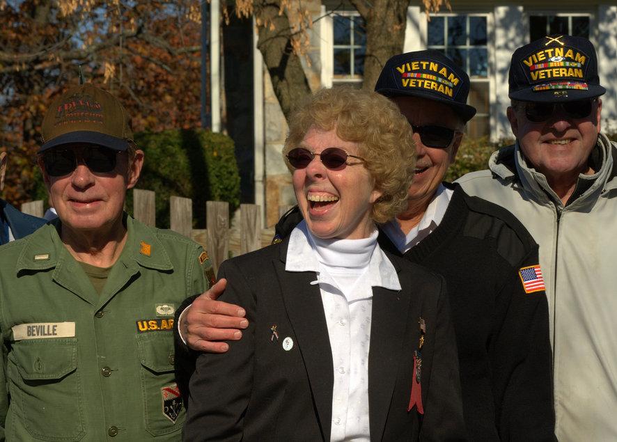 Фото на память с ветеранами