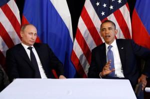 «Давайте-ка соблюдать дистанцию», – похоже, примерно так думал российский лидер в ходе первой за три года встречи с президентом Обамой, которая состоялась в понедельник в Мексике.  Фото: Reuters/Джейсон Рид