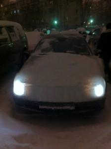 Весна в Москве. 31 марта, когда на Западе праздновали Пасху, здесь выпал снег. Фото: Джеймс Брук.