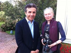 Русский фотограф Вера Ундрицова и премьер министр Грузии Бидзина Иванишвили