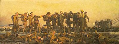 Полотно «После газовой атаки» 21 августа 1918 г. Courtesy Imperial War Museum, London