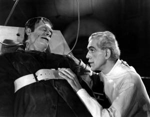 Два столетия спустя готический роман Мэри Шелли как никогда актуален при анализе отношений России и Сирии в вопросе химического оружия. Кадр из голливудского фильма – эксцентричный ученый Виктор Франкенштейн утешает свое мощное детище.