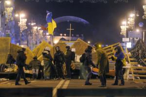 Баррикады в Киеве. AP/Sergei Grits