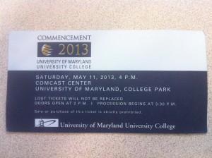Билет на участие в церемонии