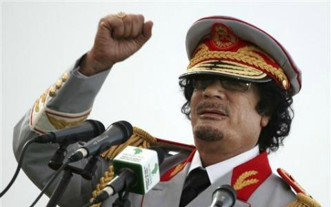 Жители Триполи праздновали в субботу годовщину со дня гибели Муаммара Каддафи