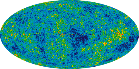 The detailed, all-sky picture of the infant universe created from seven years of NASA's WMAP data (Image: NASA/WMAP)