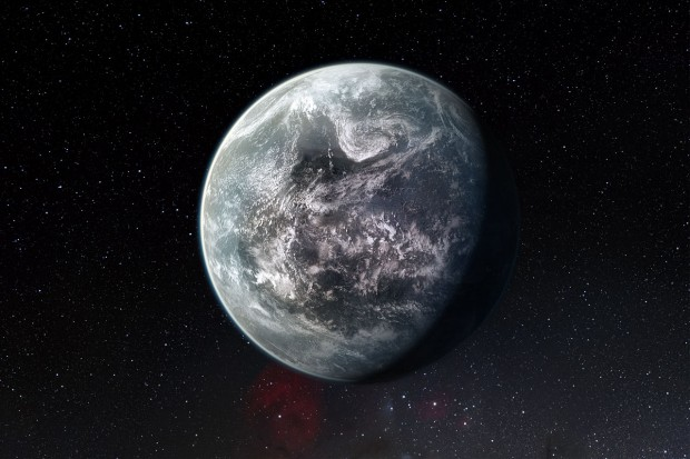 Artists's impression of one of more than 50 new exoplanets found by HARPS: the rocky super-Earth HD 85512 b (Image: ESO//M. Kornmesser)