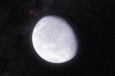 An artist's impression of the dwarf planet Eris. (Photo: Credit: ESO/L. Calçada)