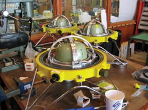 Ocean bottom seismometers from Scripps Institution of Oceanography. Data from these units will be integrated into the Project IDA global seismographic network. (Photo: Scripps Institution of Oceanography, UC San Diego)