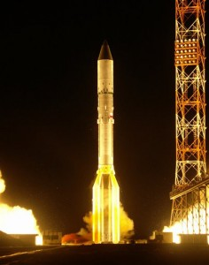 A Russian Proton booster rocket blasts off from Baikonur cosmodrome in Kazakhstan (Photo: AP)
