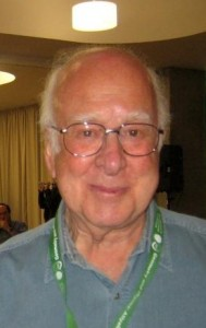 Peter Higgs is best known for his theory explaining the origin of mass of elementary particles in general and the Higgs Boson in particular. (Photo: Gert-Martin Greuel via Wikipedia Commons)