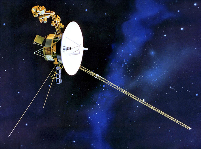 Artist rendition of Voyager in space (Image: NASA/JPL)