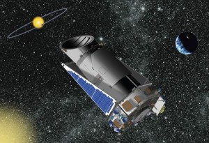 Artist's concept of the Kepler Space Telescope in space (Image: Dana Berry-NASA/Kepler Mission)