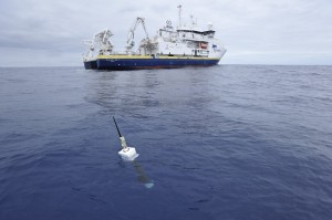 Data collected by Argo floats, such as this one, helped Dr. Hansen's team improve the calculation of Earth's energy imbalance. (Photo: Argo Project Office)