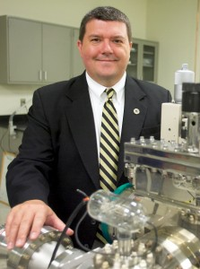 Wake Forest physics professor Dr. David Carroll in his nanotechnology lab. (Photo: Wake Forest University)