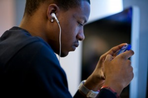 Talking on the cell phone may reduce the desire to connect with others, say UMD researchers (Photo: John Consoli/UMD)