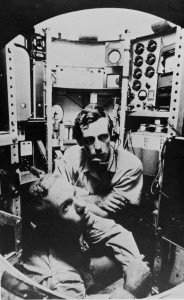 The first to reach the bottom of the Mariana Trench in 1960 - Lieutenant Don Walsh, USN, and Jacques Piccard in the bathyscaphe TRIESTE. (Photo: NOAA Ship Collection)