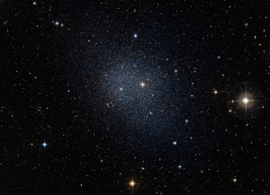 This dwarf spheroidal galaxy in the constellation Fornax is a satellite of our Milky Way and is one of 10 used in Fermi's dark matter search. (Photo: ESO/Digital Sky Survey 2)