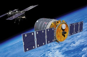 Artist rendering of Orbital's Cygnus spacecraft approaching the International Space Station. (Image: Orbital)